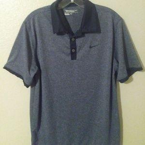 Navy golf casual button shirt